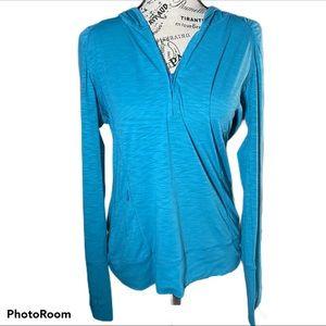 Title Nine size M 1/4 Zip Matahari Pullover Teal